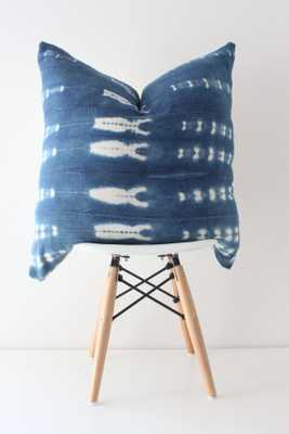 """22"""" Indigo African Striped Mudcloth Pillow, Insert sold separately - Etsy"""