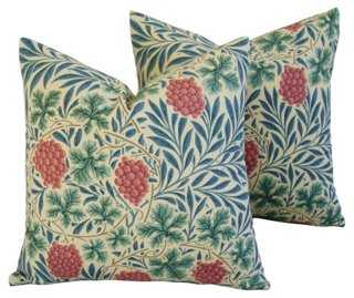 William Morris Grape Vine Pillows, Pair - One Kings Lane