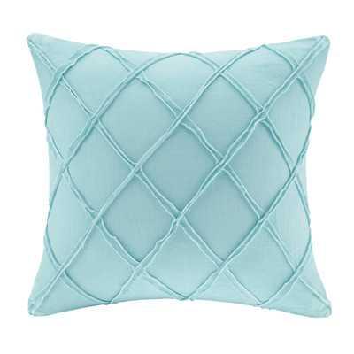 """Linen Throw Pillow - Blue - 18"""" H x 18"""" W - Poly insert - Wayfair"""