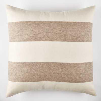 Candelabra Home Highland Ecru Pillow - Feather/down insert - Candelabra