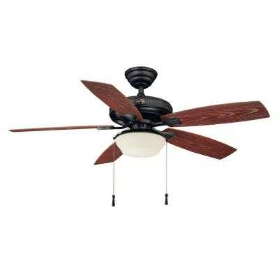 Indoor/Outdoor Natural Iron Ceiling Fan - Home Depot