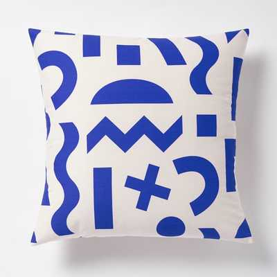 "Dusen Dusen Pillow - Cobalt- 20""sq.- Insert Sold Separately - West Elm"