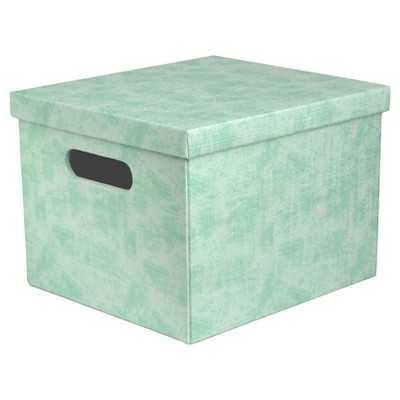 """Lidded Storage Milk Crate - Turquoise - Room Essentialsâ""""¢ - Target"""