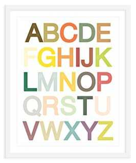 ModernPOP, Alphabet Print, Mini - One Kings Lane