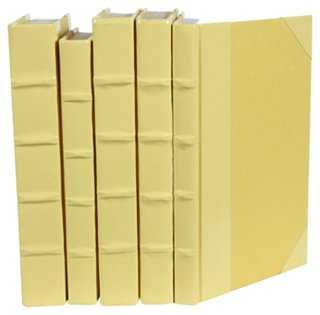 S/5 Patent-Leather Books - One Kings Lane