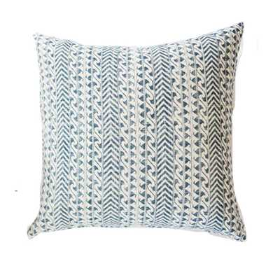 """BLUE WAVE PILLOW - 20""""Sq. - house of JADE - interiors"""