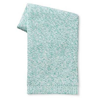 Marled Sweater Knit Throw Blanket - Blue - Target