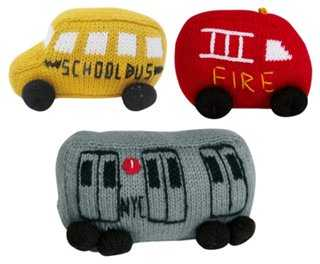 Firetruck, School Bus & Train Plush Set - One Kings Lane