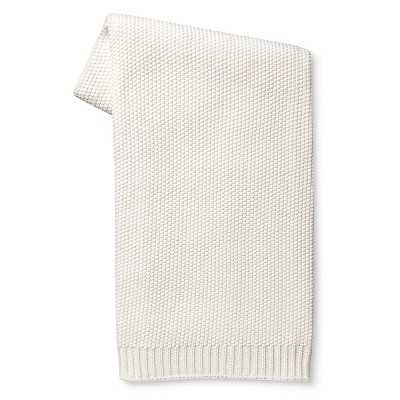 Solid Sweater Knit Throw Blanket - White - Target