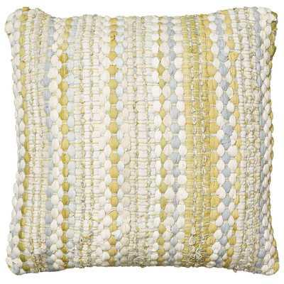 Braided Altair Decorative Cotton Throw Pillow - 20x20 - With Insert - Wayfair