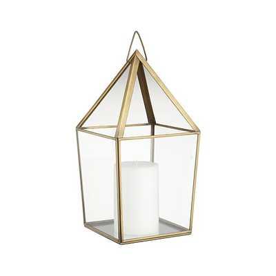 Lillian Brass Metal Lantern - Crate and Barrel