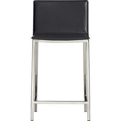 "phoenix carbon grey 24"" counter stool - CB2"