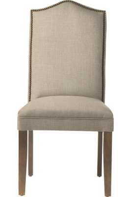 Custom Camel - Back Parsons Chair - Linen Duck Natural - Home Decorators