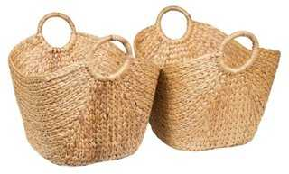 S/2 Nesting Floor Baskets - One Kings Lane