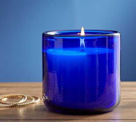 Cobalt Large Glass Candle Pot - Pottery Barn