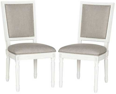 Elizabeth Rect Side Chair Light Grey - Domino