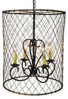 4-Light Wire Chandelier - One Kings Lane