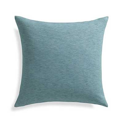 "Linden Ocean Blue 18"" Pillow- Down-alternative insert - Crate and Barrel"
