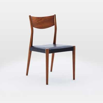 Tate Leather Dining Chair - Set Of 2, Obsedian - West Elm