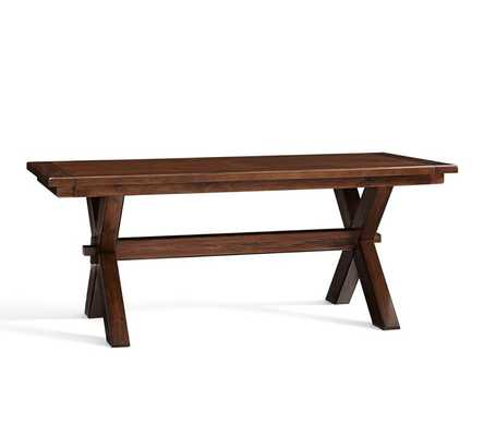 Toscana Extending Dining Table - Small - Tuscan Chestnut - Pottery Barn
