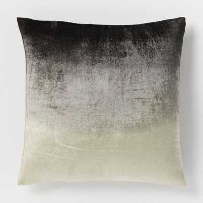 "Ombre Velvet Pillow Cover - Slate - 18""sq. - Insert sold separately - West Elm"