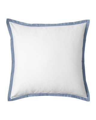 Border Frame Euro Sham - Chambray - Inserts sold separately - Serena and Lily