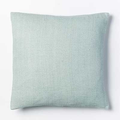 """Silk Hand-Loomed Pillow Cover - Pale Harbor - 20"""" Sq. - Insert sold separately - West Elm"""