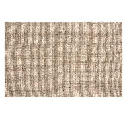 CHUNKY WOOL & JUTE RUG - NATURAL - Pottery Barn
