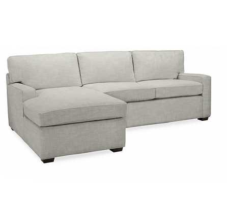 PB SQUARE UPHOLSTERED 2-PIECE CHAISE SECTIONAL- Right - Pottery Barn