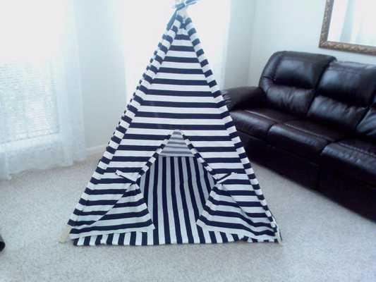Teepee Navy and White Horizontal Stripe Tent - Etsy