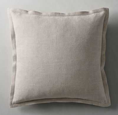 "BELGIAN LINEN CROSS WEAVE FLANGED PILLOW COVER-22""x22""-Mist-Insert sold separately - RH"
