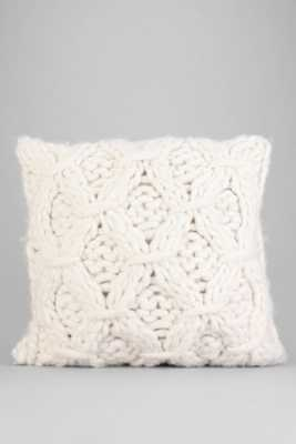 Cable-Knit Pillow - White - 18x18 - Insert sold separately - Urban Outfitters