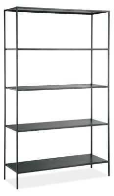 Slim Bookcases in Natural Steel - Room & Board