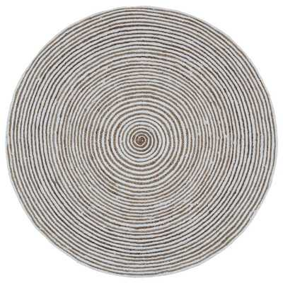"""Earth First Hand-Loomed Natural Area Rug-Round 6"""" - Wayfair"""