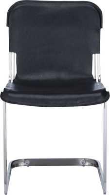 Rake black nickel chair - CB2