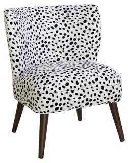 Bailey Accent Chair, Togo Black/White - One Kings Lane