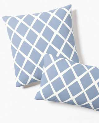 "Diamond Pillow Cover - Chambray - 20""SQ-Inserts sold separately. - Serena and Lily"