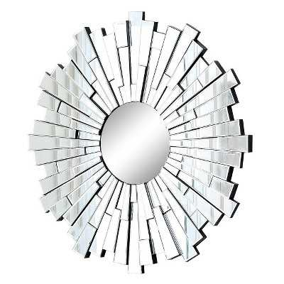Abbyson Andre Round Mirror - Light Silver - Target