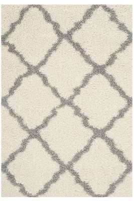 "BLISSFUL SHAG AREA RUG - 8""x10""- Ivory/Grey - Home Decorators"