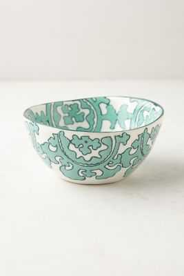 Gloriosa Cereal Bowl- Mint - Anthropologie