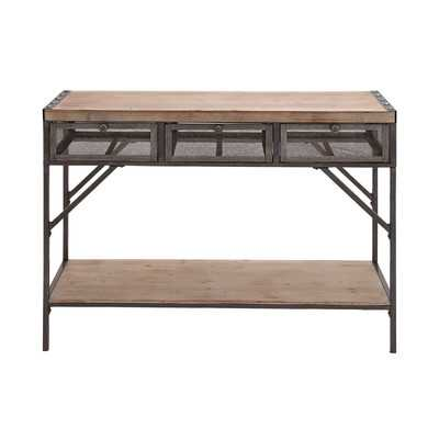 Perfect Wood & Metal Console Table - Wayfair