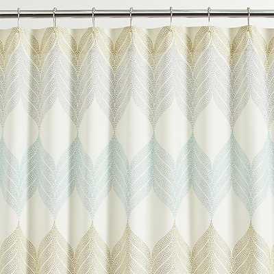 Sheesha Leaf Shower Curtain - Crate and Barrel