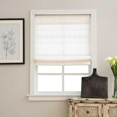 Ivory Cordless Fabric Roman Light Filtering Shade - Overstock