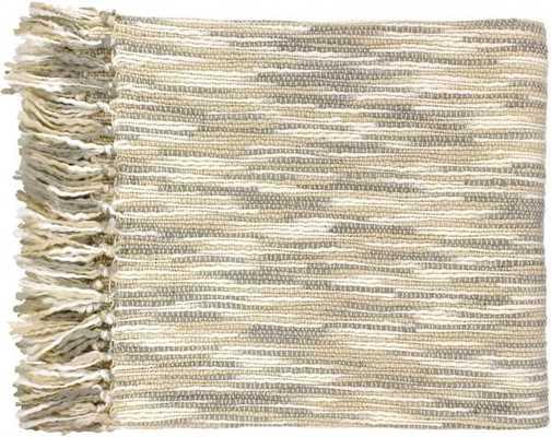 Teegan Traditional Ivory Light Gray Acrylic Throws - theclassyhome.com