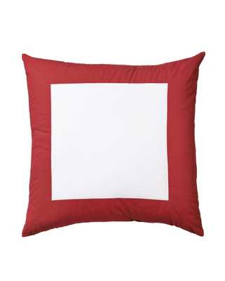 """Color Frame Euro Sham - 26""""SQ. - Red - Insert sold separately - Serena and Lily"""