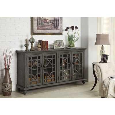 Treasure Trove Accents Joplin Texture Grey Four Door Media Credenza - Overstock