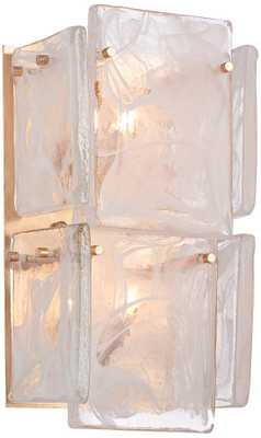 "Arctic Frost 15""H Antique French Gold Wall Sconce - Lamps Plus"