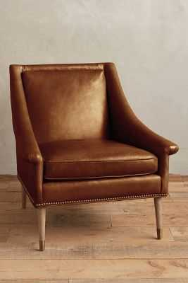 Leather Tillie Armchair - Caramel - Anthropologie