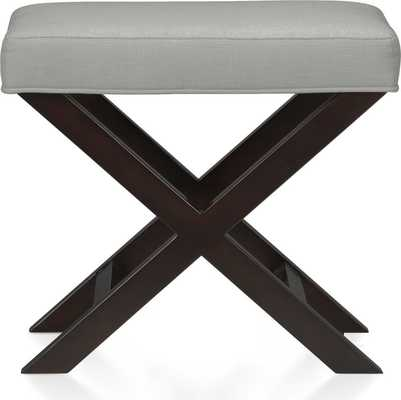X-Base Bench-Vanity Stool - Pewter - Crate and Barrel