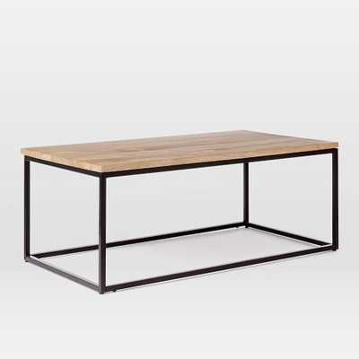Box Frame Coffee Table - Raw Mango - Antique Bronze - West Elm